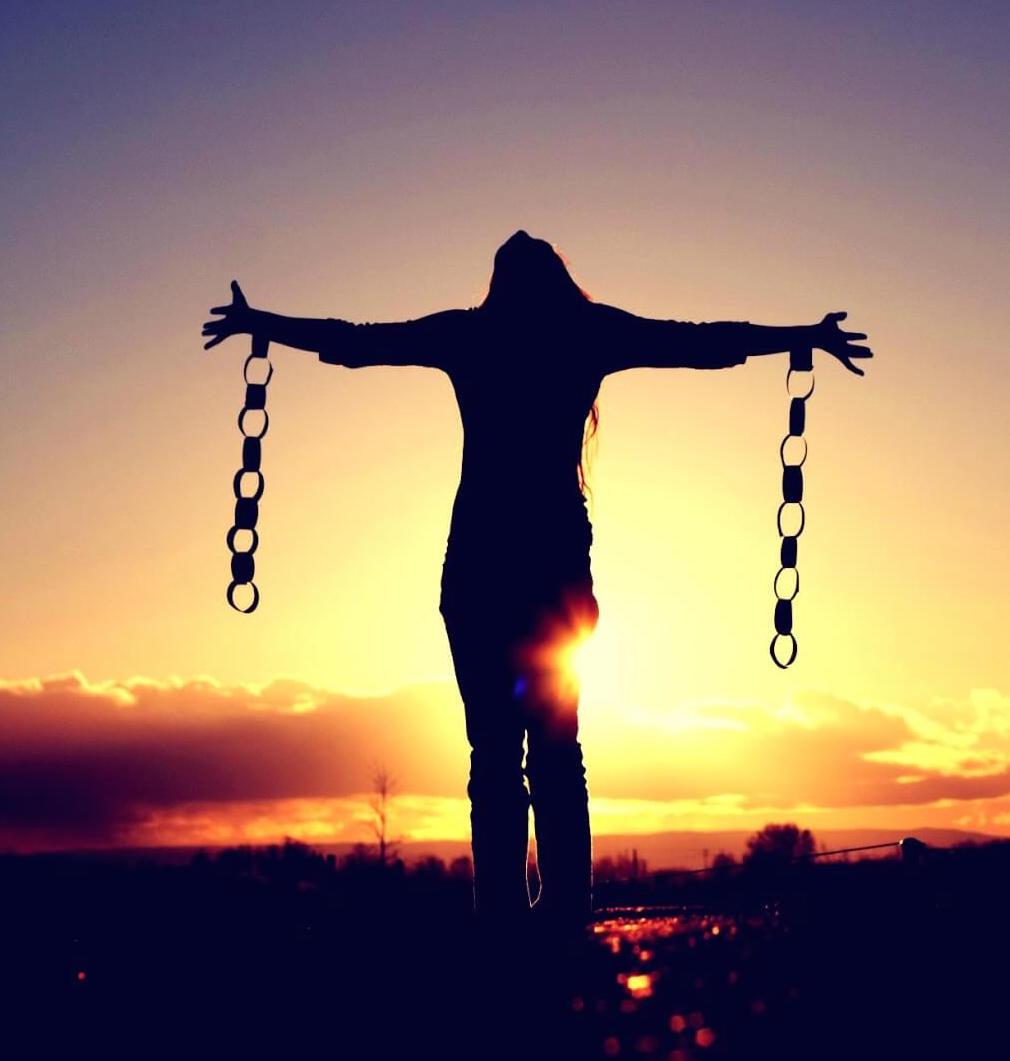 Libertà catena ragazza